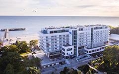 Das Hotel Baltyk liegt am Ostsestrand